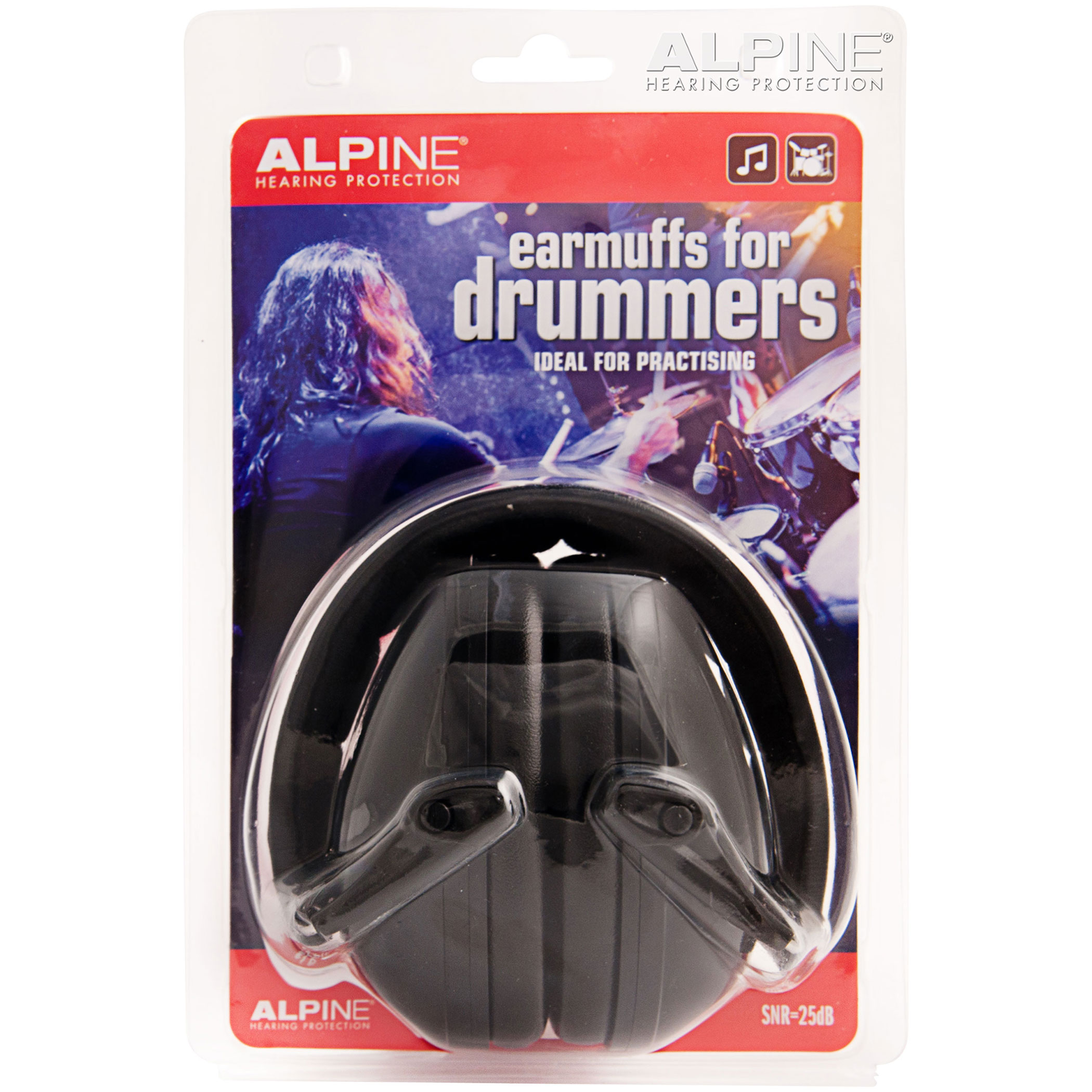 ALPINE EARMUFFS PARA BATERISTAS SNR-25