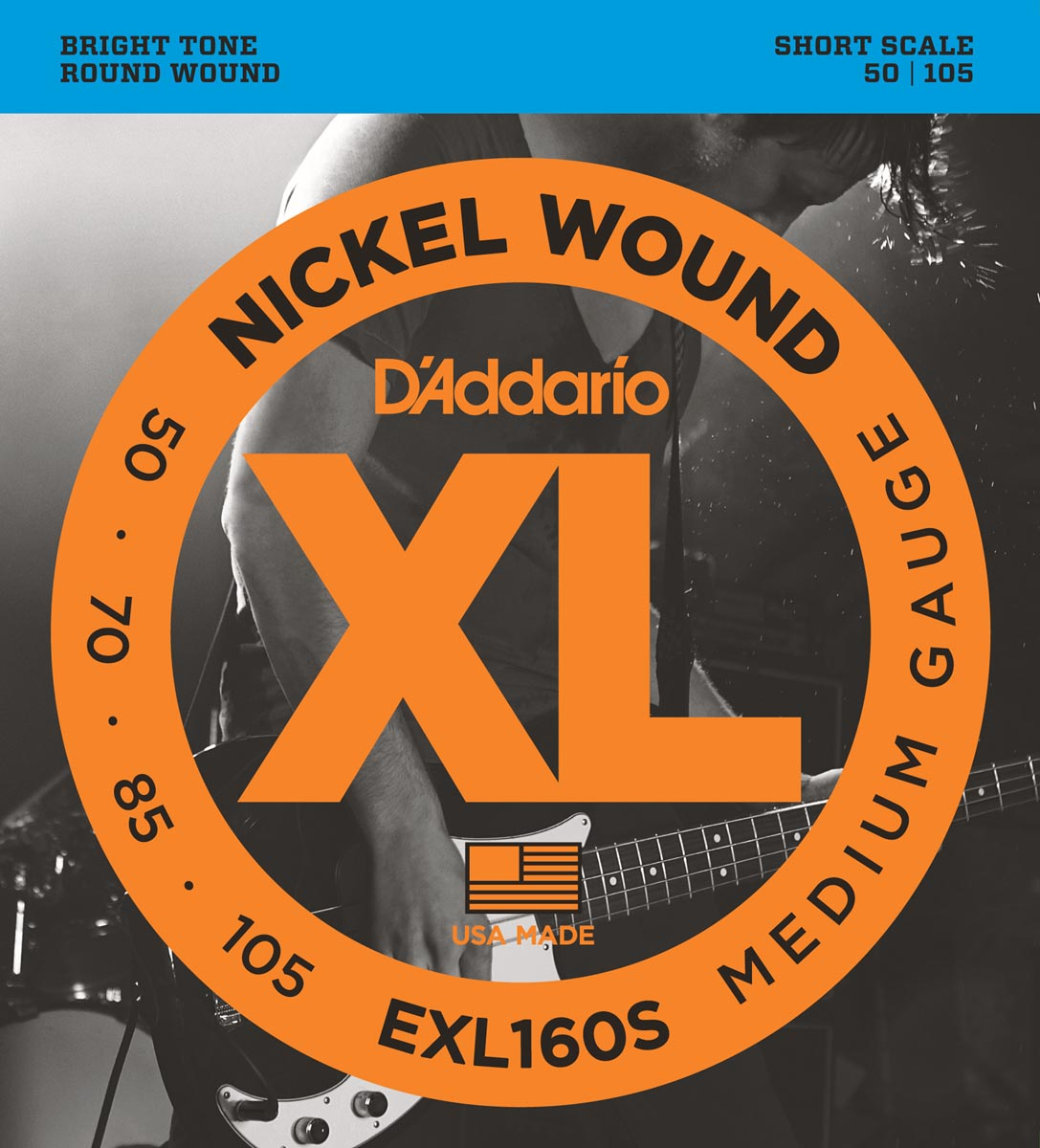DADDARIO EXL160S MEDIUM SHORT SCALE [50-105]