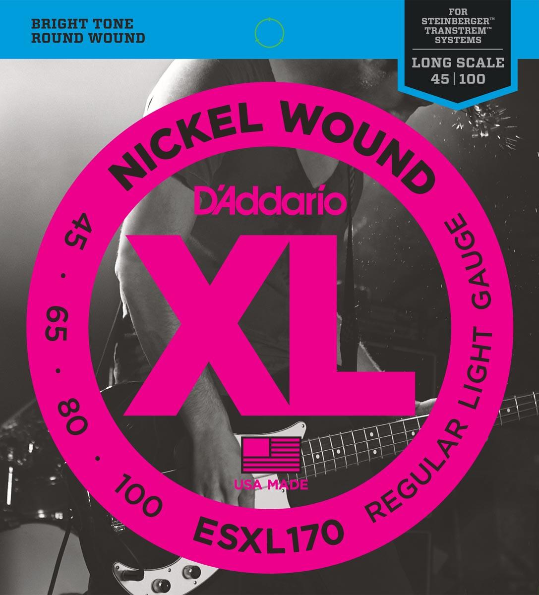 DADDARIO ESXL170 XL NICKEL WOUND DOBLE BOLA [45-100]