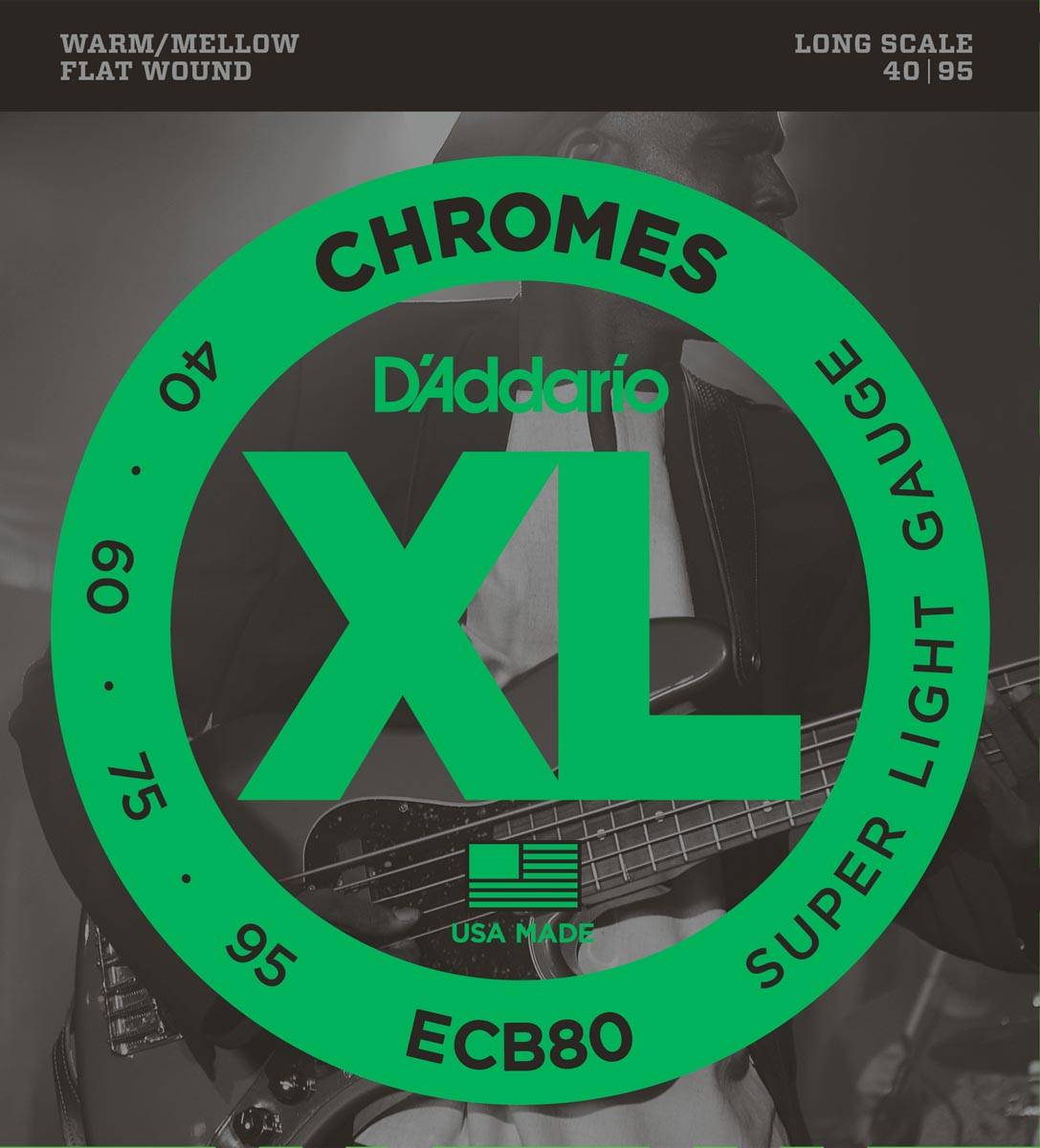 DADDARIO ECB80 CHROMES BASS, LIGHT, LONG SCALE [40-95]