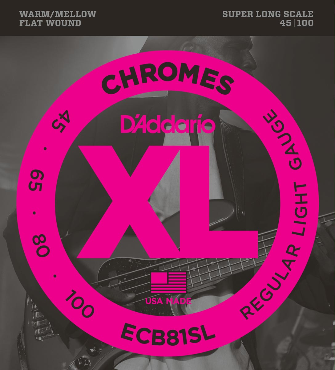DADDARIO ECB81SL CHROMES LIGHT SUPER LONG SCALE [45-100]