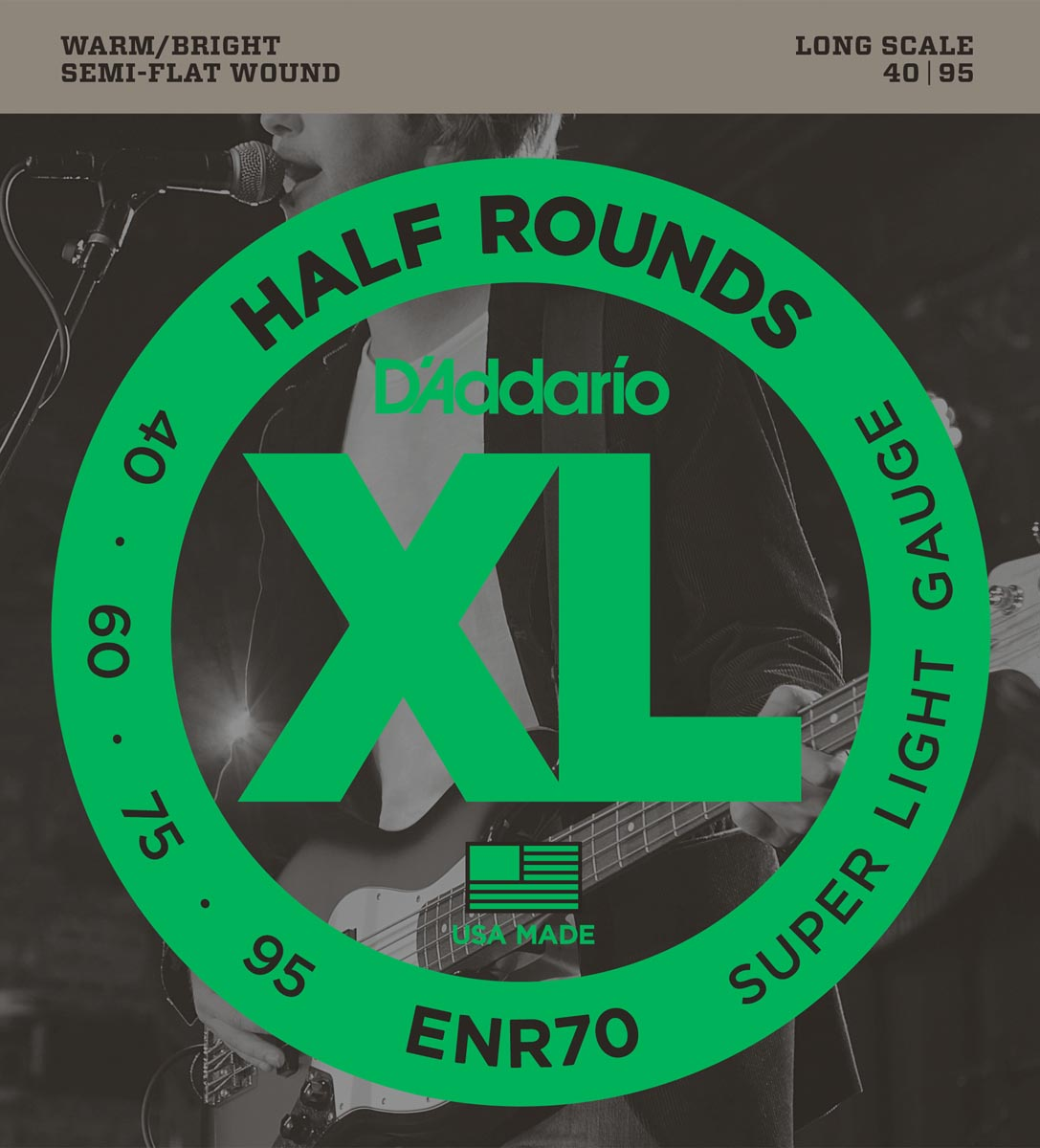 DADDARIO ENR70 XL HALF ROUNDS SUPER LIGHT [40-95]