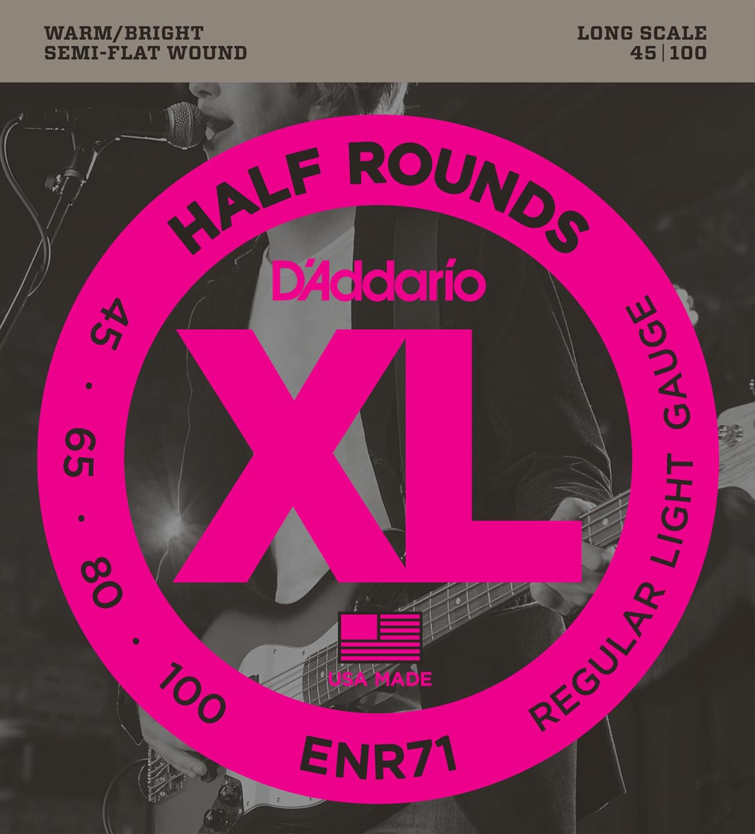 DADDARIO ENR71 XL HALF ROUNDS REGULAR LIGHT [45-100]