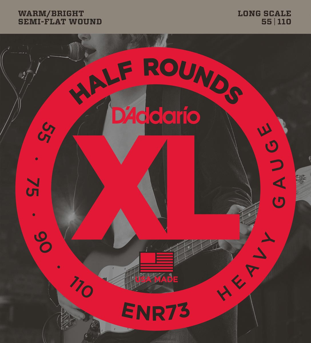 DADDARIO ENR73 HALF ROUNDS HEAVY [55-110] LONG SCALE