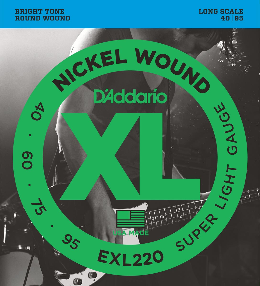 DADDARIO EXL220 XL NICKEL WOUND SUPER LIGHT [40-95]