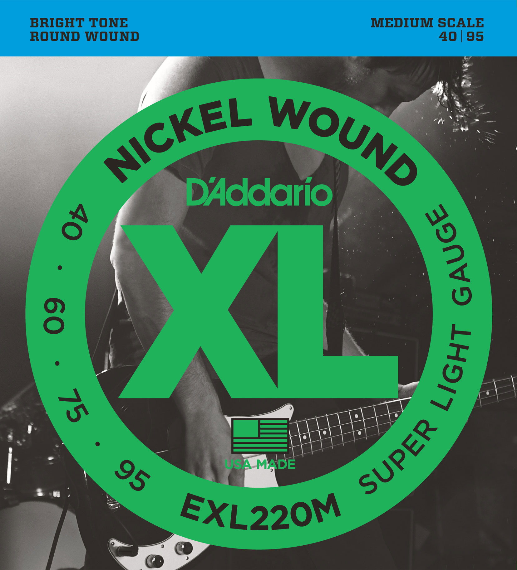 DADDARIO EXL220M SUPER LIGHT MEDIUM SCALE [40-95]