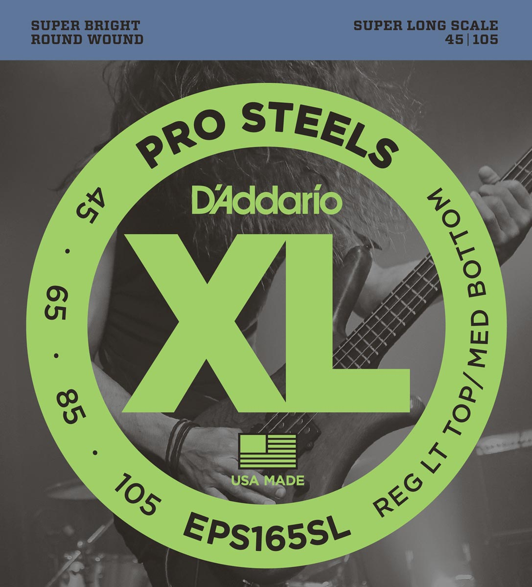 DADDARIO EPS165SL PROSTEELS CUSTOM LIGHT SUPER LONG SCALE [45-105]