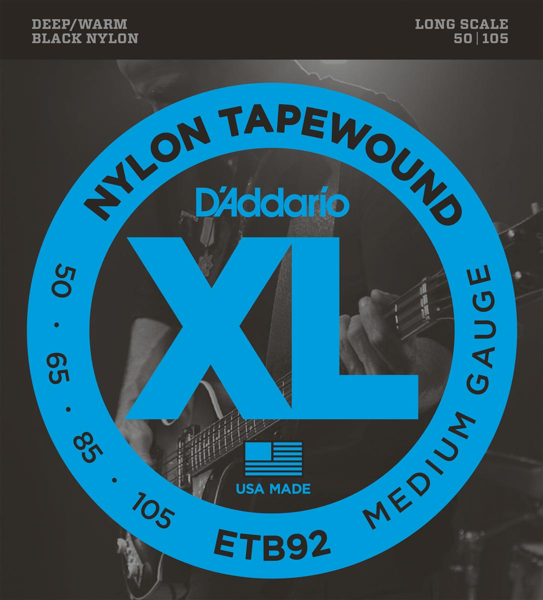 DADDARIO ETB92 TAPEWOUND MEDIUM LONG SCALE [50-105]