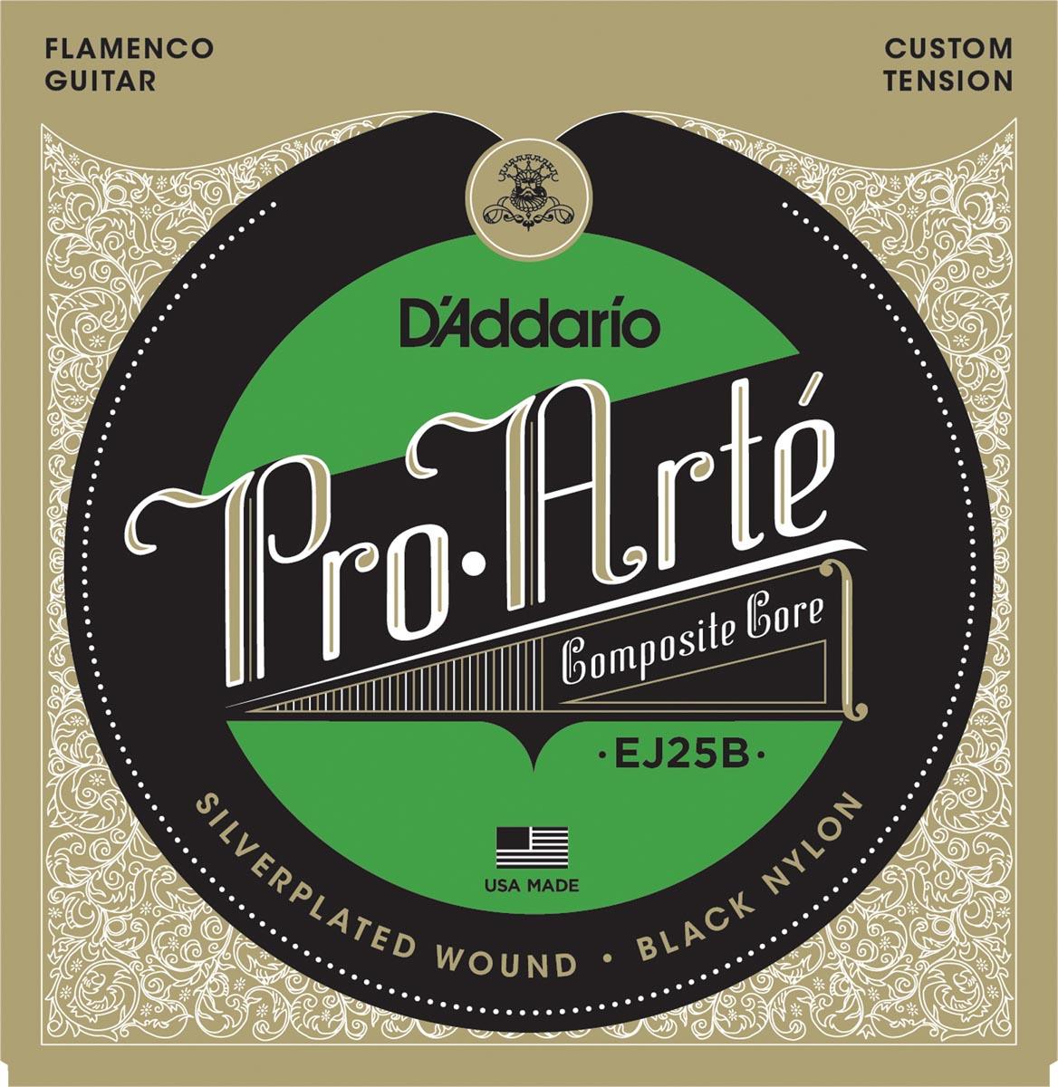 D'ADDARIO EJ25B Composites Flamenco Black Nylon