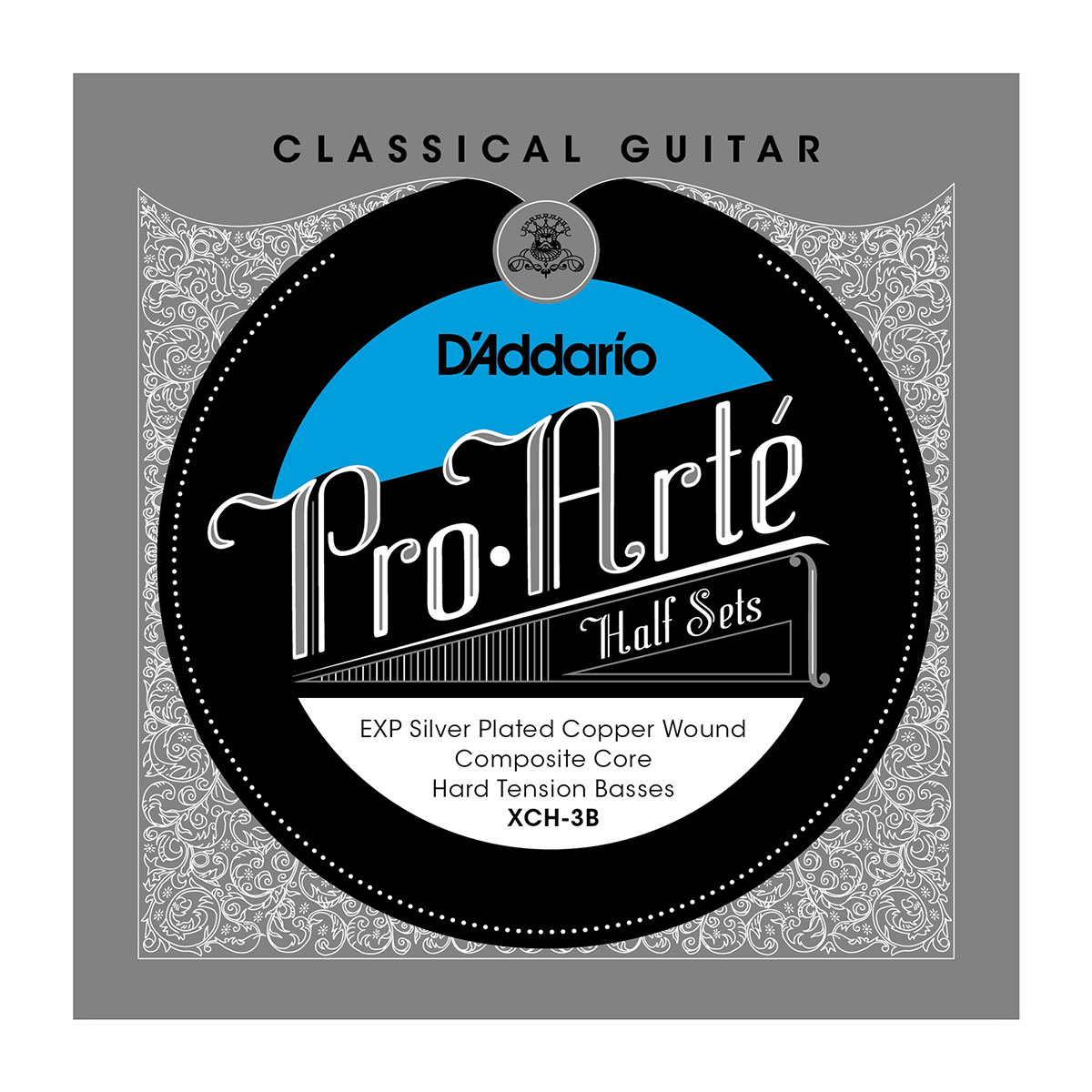 D'ADDARIO XCH-3B Pro-Arte Classical Halfsets EXP Composite Silver Hard Tension