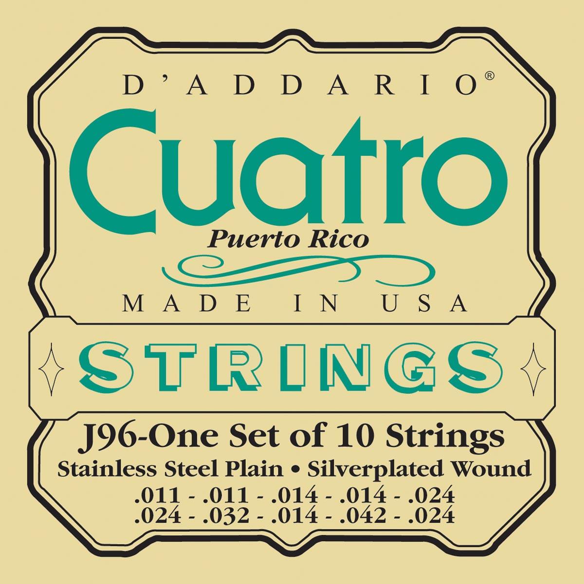 DADDARIO J96 CUATRO PUERTO RICO