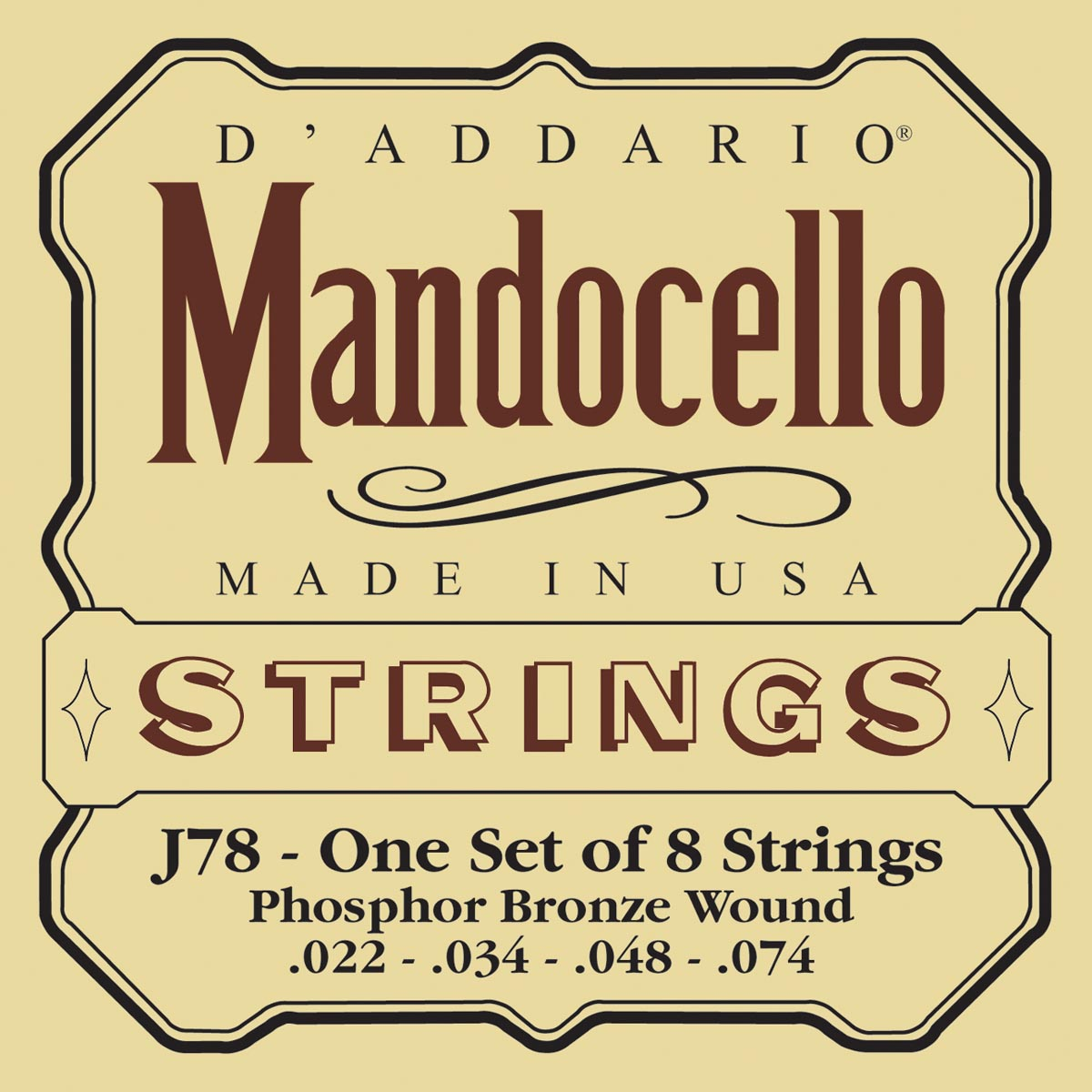 DADDARIO J78 MANDOCELLO [22-74]