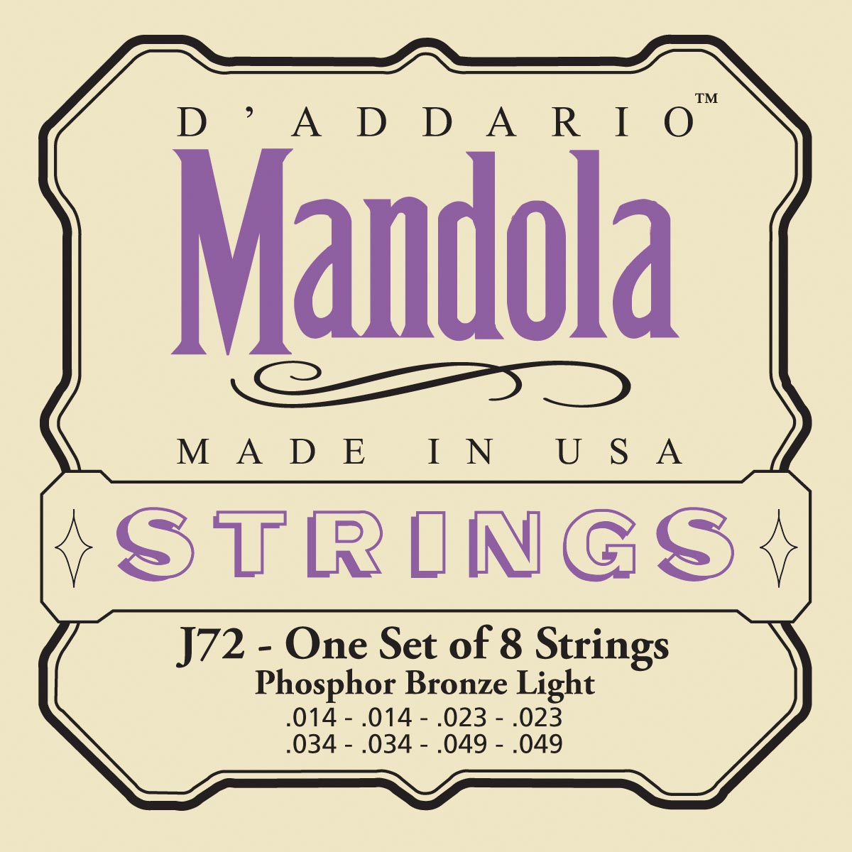 DADDARIO EJ72 PHOSPHOR BRONZE MANDOLA LIGHT [14-49]