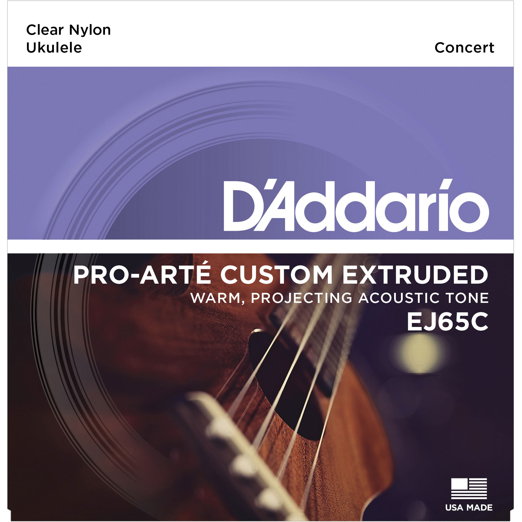 DADDARIO EJ65C PRO-ARTÉ CUSTOM EXTRUDED NYLON UKULELE STRINGS, CONCERT