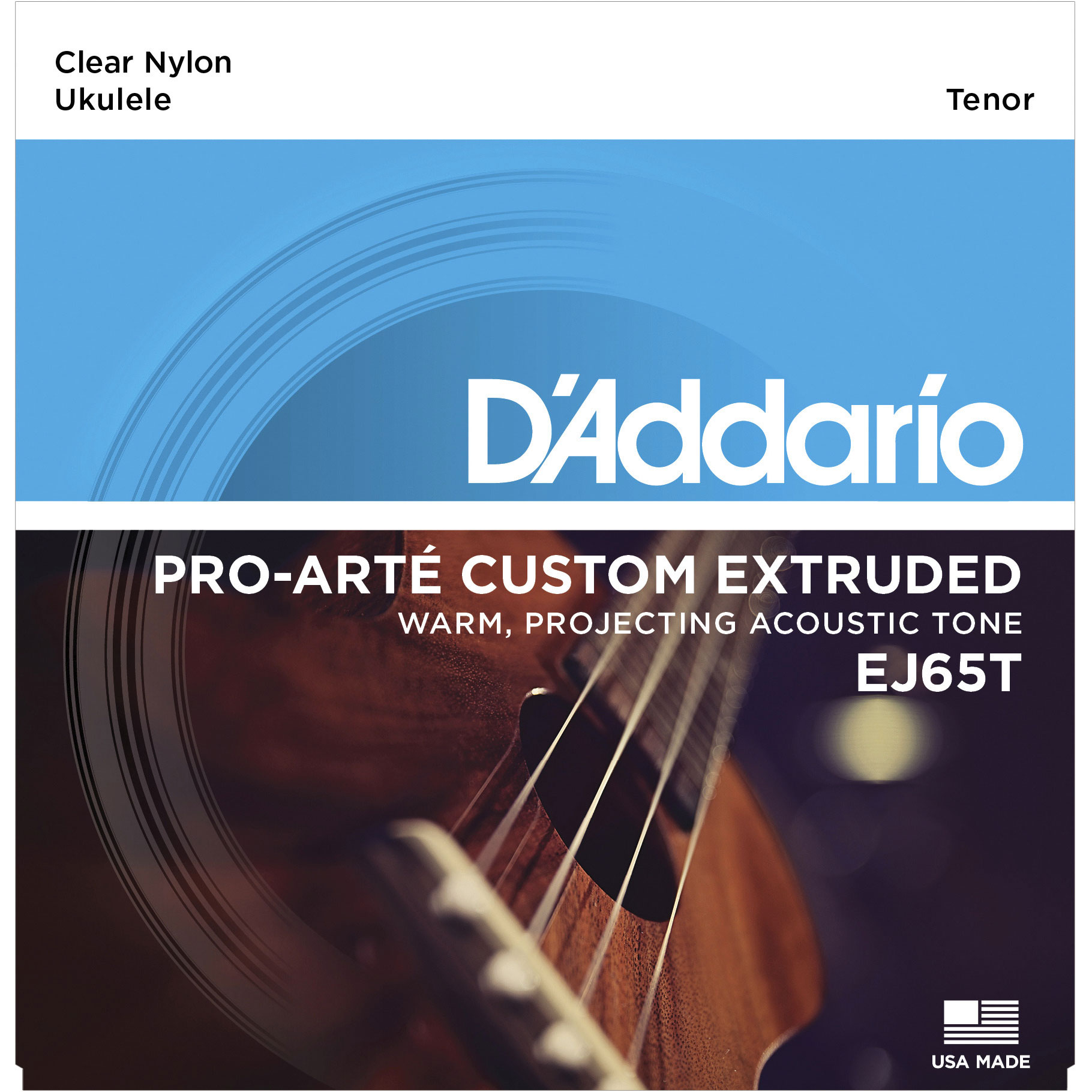 DADDARIO EJ65T PRO-ARTÉ CUSTOM EXTRUDED NYLON UKULELE STRINGS, TENOR