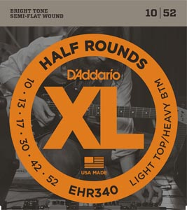 D'Addario - EHR340 Half Rounds Light Top/Heavy Bottom [10-52]