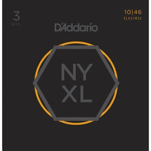 D'Addario - NYXL1046 Regular Light [10-46] Pack 3 juegos